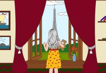 Kleurplaat Eiffeltoren (voorbeeld)