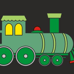 Trein tekenen (ingekleurd)